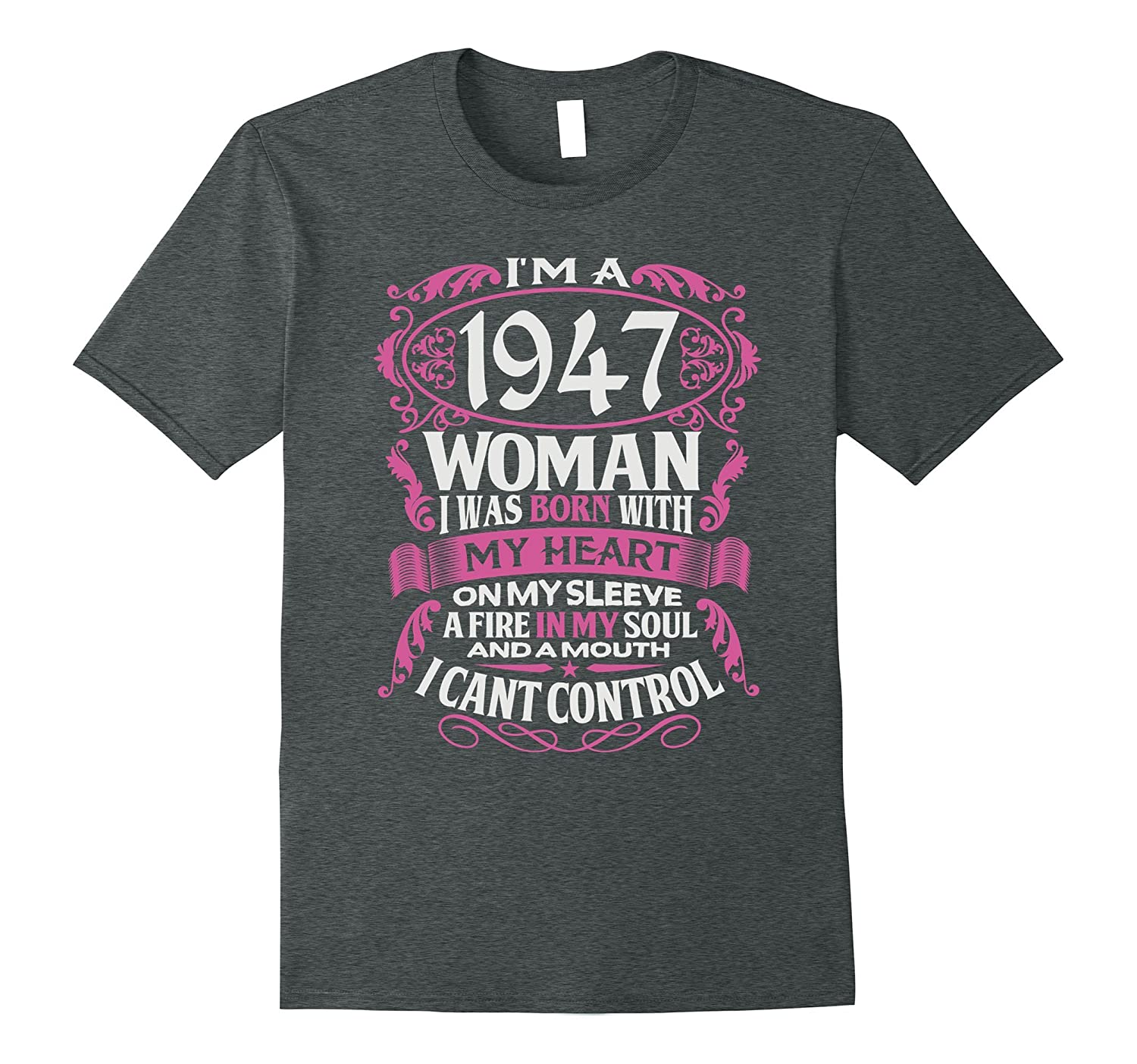70th Birthday Gift Shirt Im A 1947 Woman 70 Years Old Tee ANZ