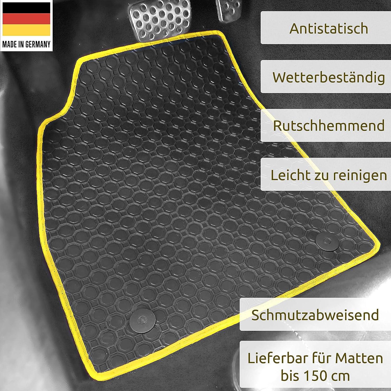 Gummimatten Auto Fußmatten Schwarz Passgenau Rand Band Gelb Os 3764 Auto
