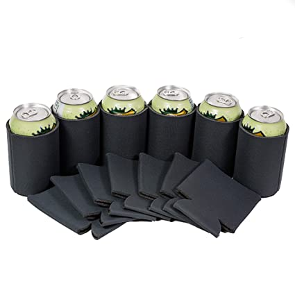 25 Charcoal Gray//Grey Blank Foam Can Coolers Coolies Screen Print Wedding Party