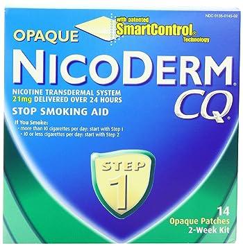 Amazon.com: NicoDerm CQ Opaque Nicotine Patch 21 milligram (Step 1 ...