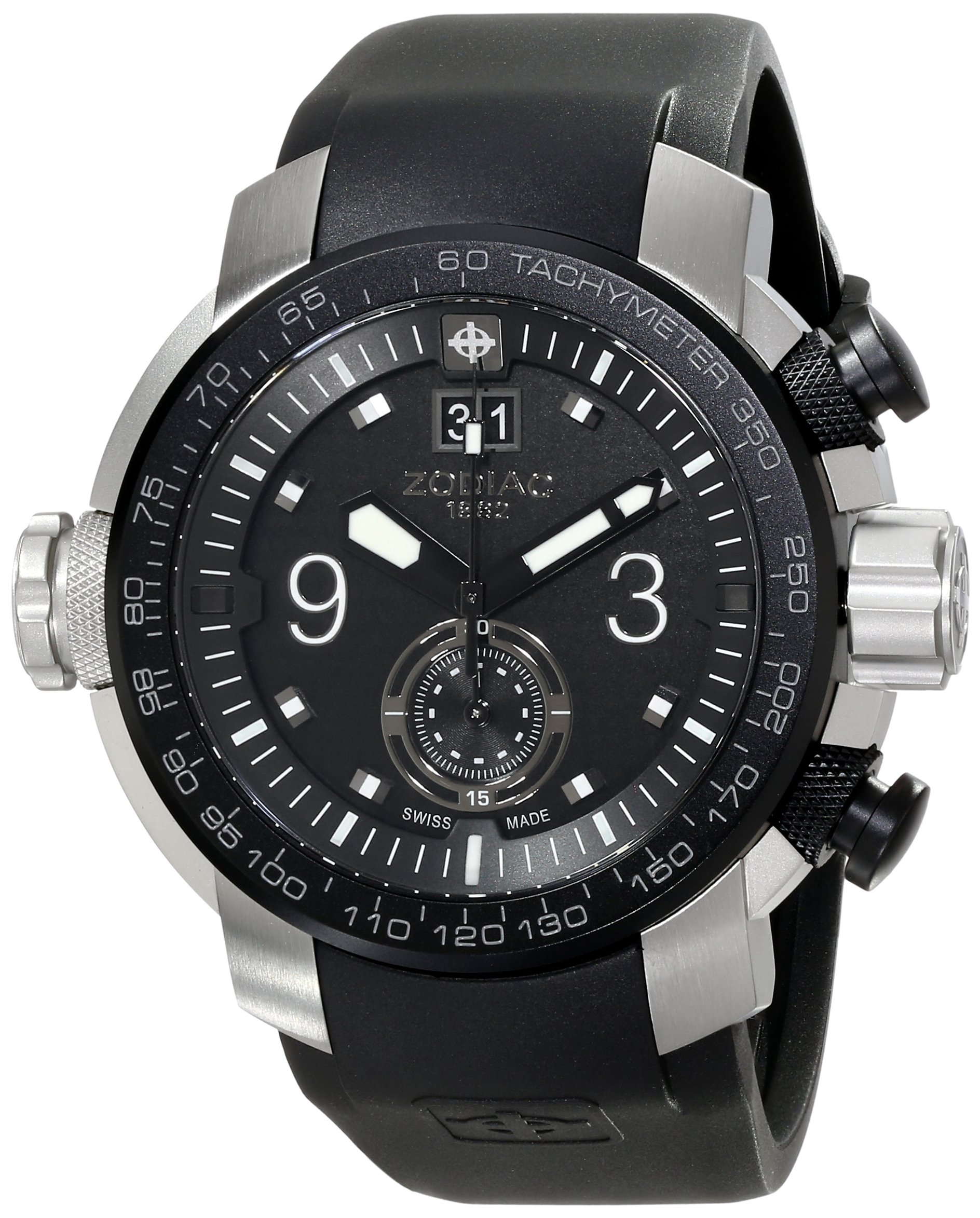 Zodiac ZMX Men's ZO8524 ''Special Ops'' Stainless Steel Watch with Black Rubber Band by Zodiac (Image #1)