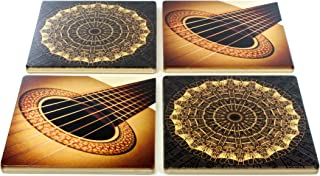 product image for Set of 4 Wooden Coasters - Music - Guitar - Notes