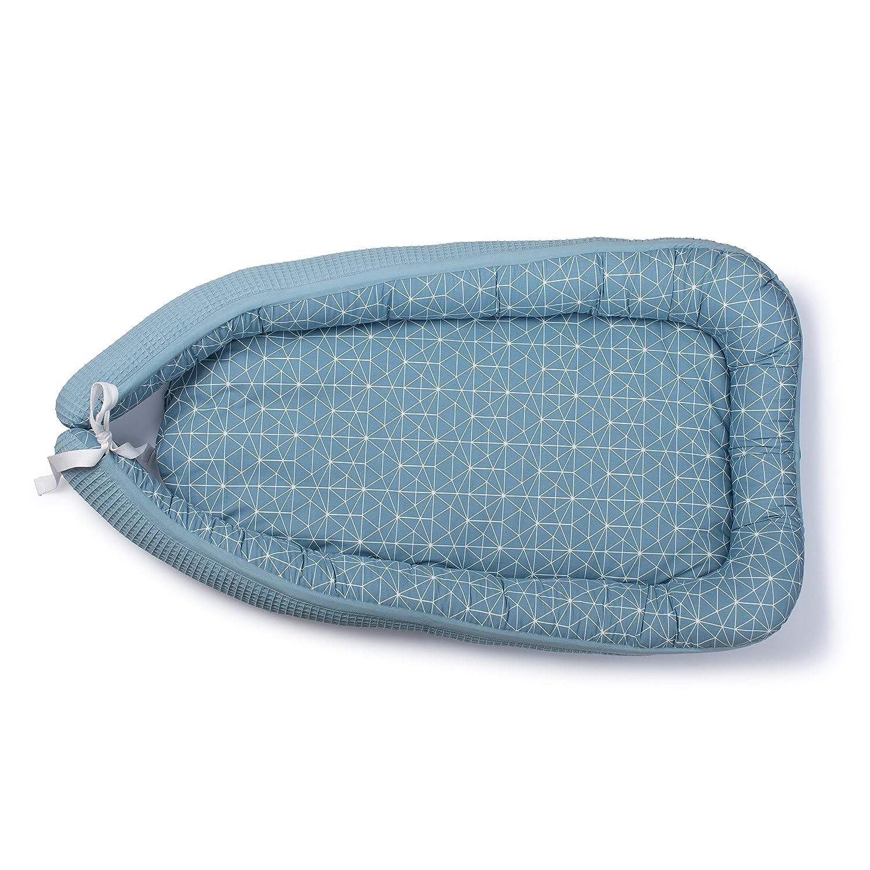 Cuna de Viaje Cama Nido Urban Kanga Nido Beb/é Azul Baby Nest Reductor de Cuna 85 x 56 cm
