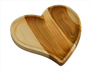 Wooden Serving Tray Plate - Heart Shape - Best Romantic Idea For Everyone You Love - Unique and Handmade - Great Surprise For Valentine Day - Made by SPL Woodcraft Ukraine