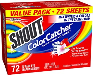 Shout Color Catcher in-Wash Dye Trapping Sheets - 72Count (Pack of 1)