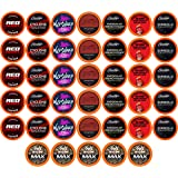 Best of the Best High Caffeine Coffee Pods, Variety Pack for Keurig K Cup Brewers, 40 Count - Strong and Regular Coffee…