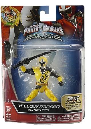 Power Rangers Ninja Steel - Figura acción Ninja Steel Ranger Amarillo (Bandai 43703)