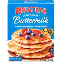 Krusteaz Light & Fluffy Buttermilk Pancake Mix - No Artificial Flavors, Colors or Preservatives - 32 OZ (Pack of 2)