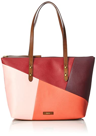 Fossil Damen Tasche Jayda - Shopper, Women's Tote, Rot (Red Multi),