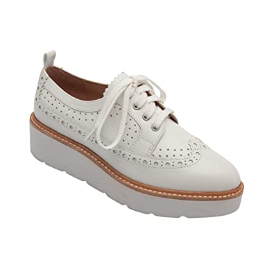 Mara  Women's Leather Platform Lace-Up Handcrafted Brogued Oxford (New Spring)