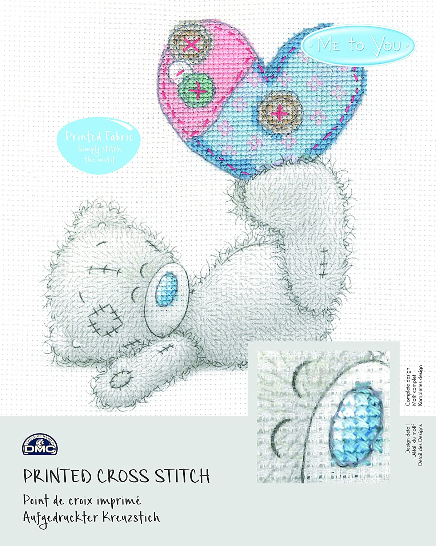 Fairy Dust DMC Me to You Tatty Teddy Printed Cross Stitch Fabric Kit