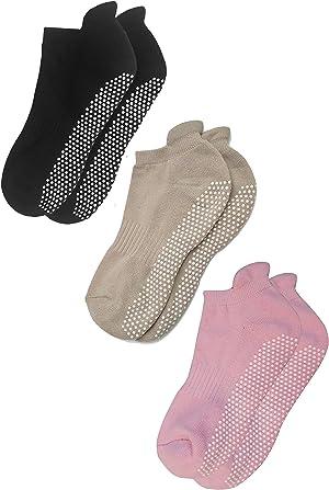 RATIVE Anti Slip Non Skid Barre Yoga Pilates Hospital Socks with grips for Adults Men Women