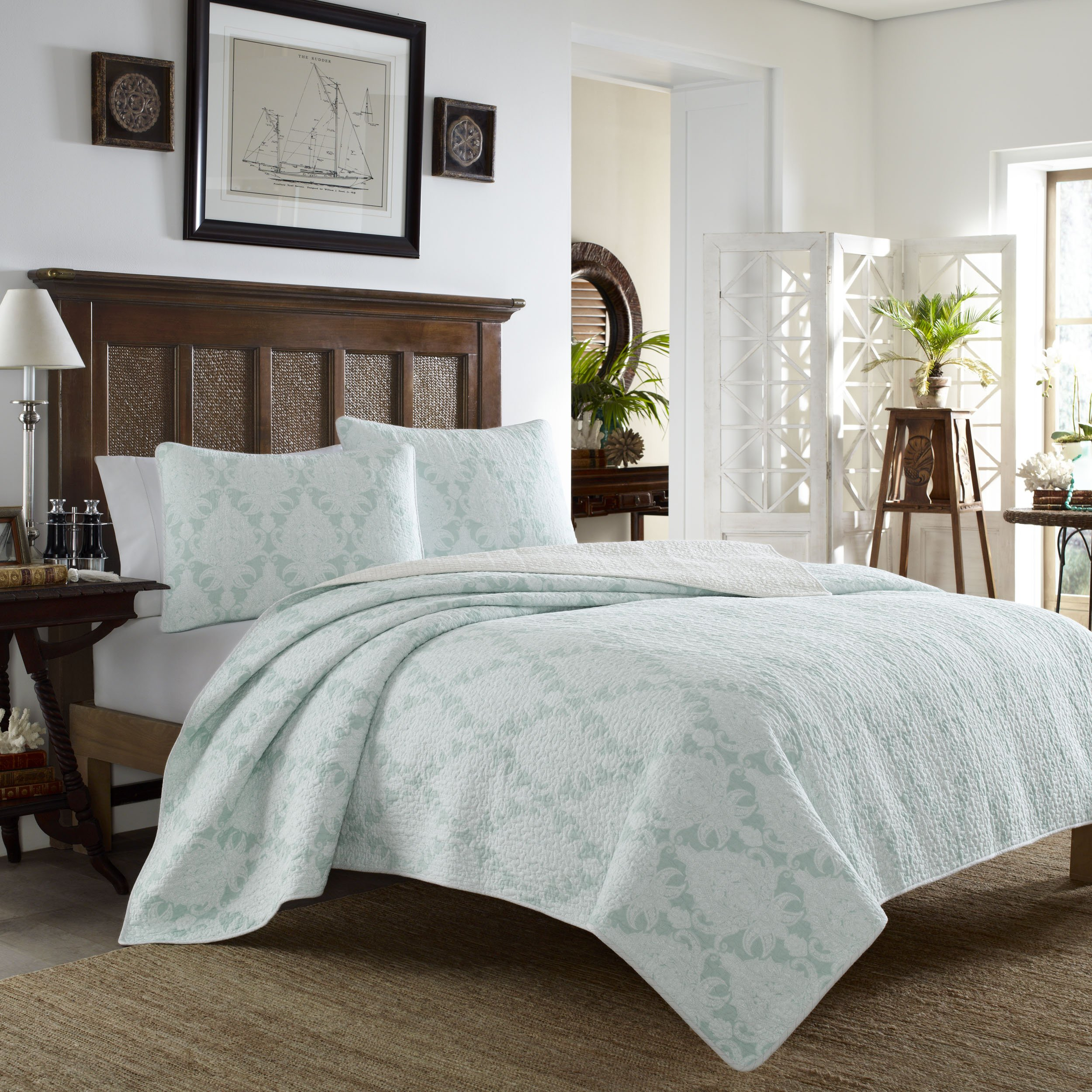 Tommy Bahama Quilt Set, King, Cape Plumbago by Tommy Bahama (Image #1)