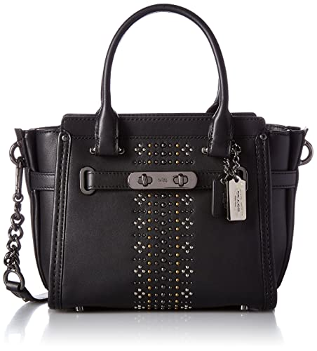 4149f00bb Coach Women's Swagger 21 Top-Handle Bag Black (Dk/Black): Amazon.co.uk:  Shoes & Bags
