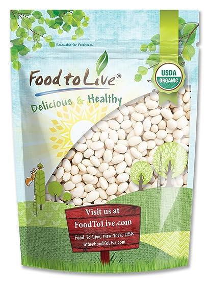 Food to Live Frijoles blancos Bio certificados (Eco, Ecológico, porotos, alubias,