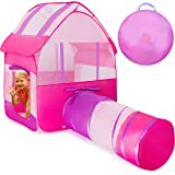Kiddey Kids Playhouse Tent with Tunnel -Pop Up no Assembly Required- Large Indoor & Outdoor Play Tent For Boys & Girls, With Convenient Carry Case for Easy Storage and Travel, Perfect Gift For Kids