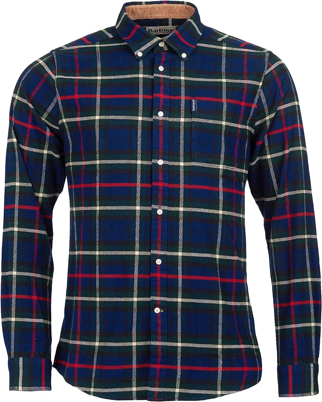 Barbour Highland Check 19 - Camisa a medida, color azul marino