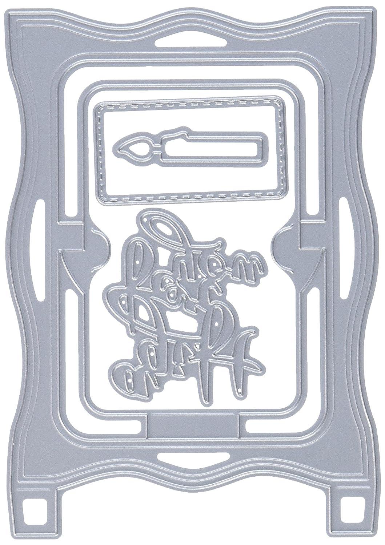 Colore Grigio Elizabeth Craft Designs-Il Castoro Baker Fustella in Metallo