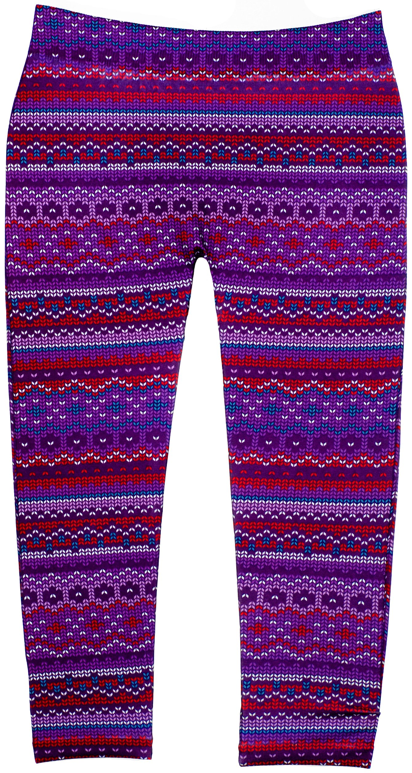 Girls Fashion Leggings with Vivid Colors & Fun Patterns in 3 Sizes (4-6X, 24613 Red/Purple)