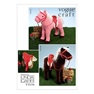 Vogue Mustern 9194 OS Puppe Pferde Schnittmuster: Amazon.de: Küche ...
