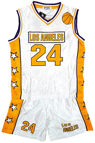 De niño LOS ÁNGELES LA Baloncesto Deporte Camiseta Conjunto De Camiseta Y Pantalón Corto tallas 3 hasta 14 Años