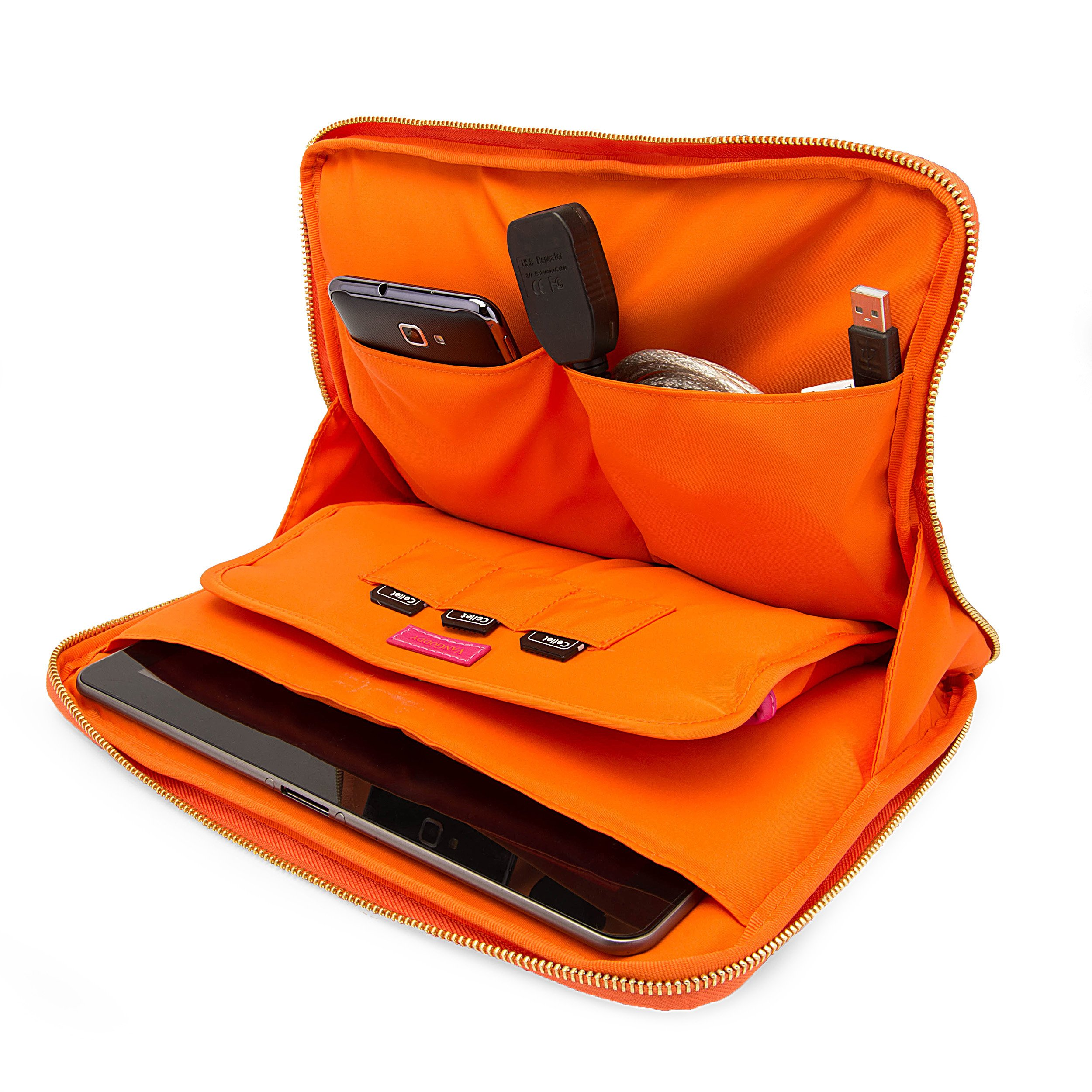 Travel Leatherette Sleeve For Samsung Galaxy Tab S 10.5 / Galaxy Tab 4 10.1 / Galaxy Tab Pro 10.1 + Bluetooth Speaker by VangoddyCase (Image #4)