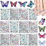 12 Sheets 3D Butterfly Nail Art Stickers Adhesive Flowers Butterfly Nail Decal Stickers for Women Girls Nail DIY…