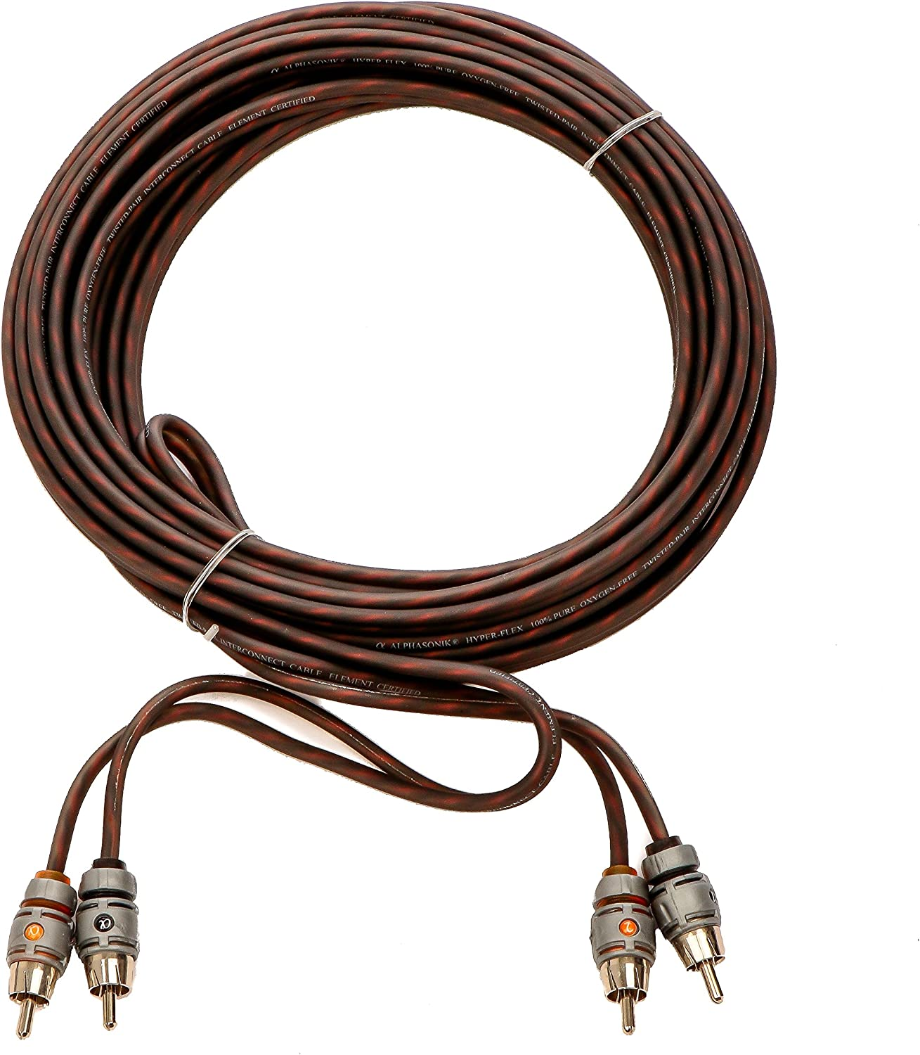 Alphasonik 3 Feet Premium 2 Channel Hyper-Flex RCA Interconnect Signal Patch Audio Cable with X-Radial Twist Wire Technology 100% Oxygen Free Copper Element Certified for Multiple Applications FLEX-R3 91QlZuVnFgL