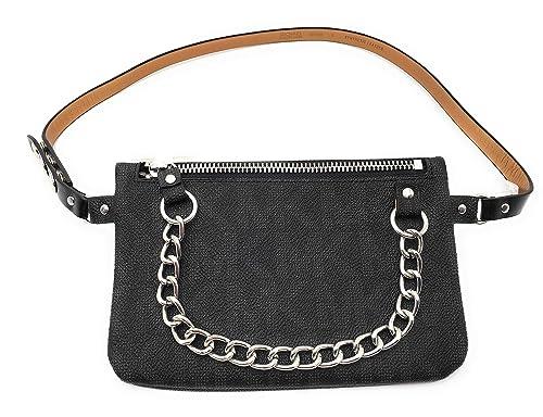 f35d4641e7b4 Michael Kors Womens Bag Mk Monogram Fanny Pack with Chain - Black  (X-Large): Amazon.ca: Shoes & Handbags