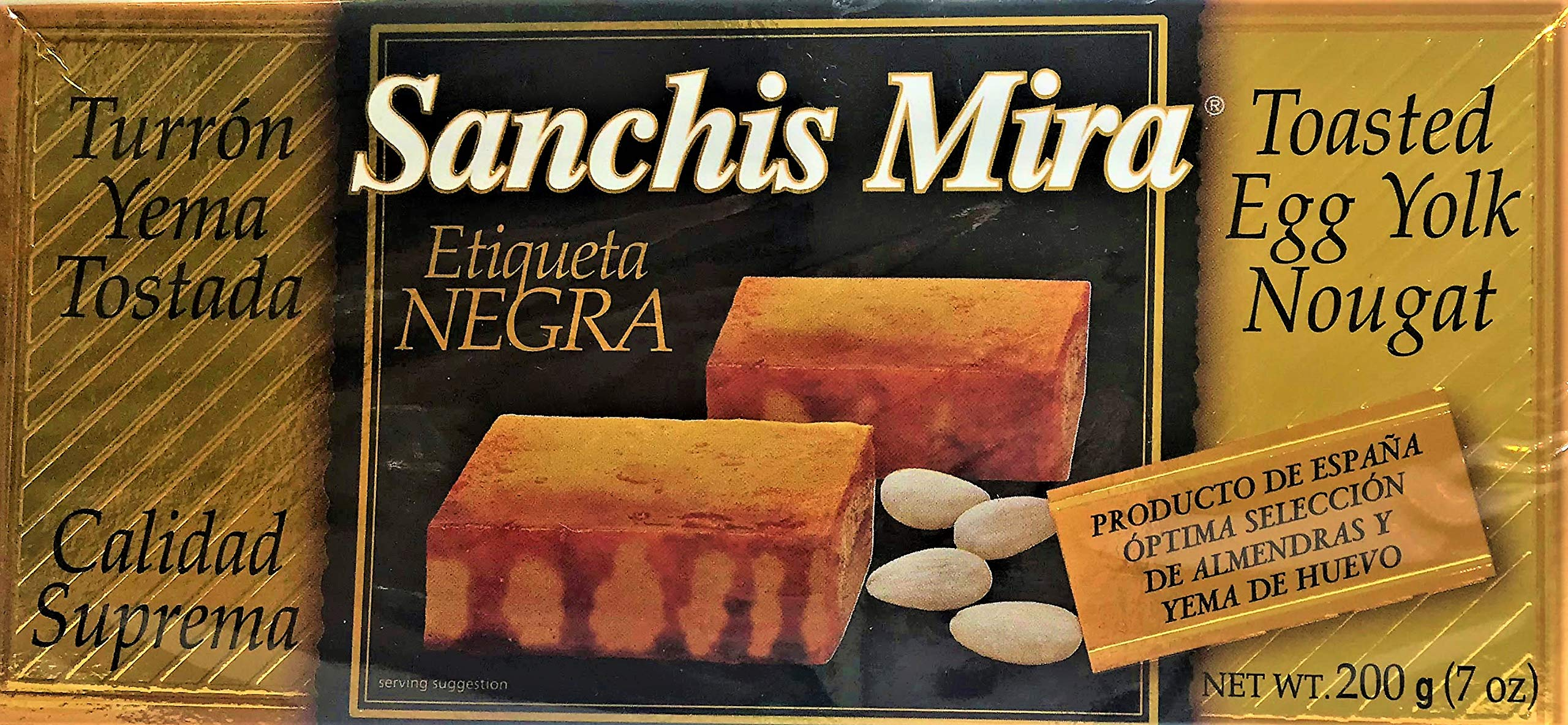 Sanchis Mira Turron de Yema Tostada Just arrived from Spain 200 grs. (7oz.