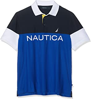 Nautica Signal Blocked Polo, Azul (Navy 4nv), Small (Tamaño del ...