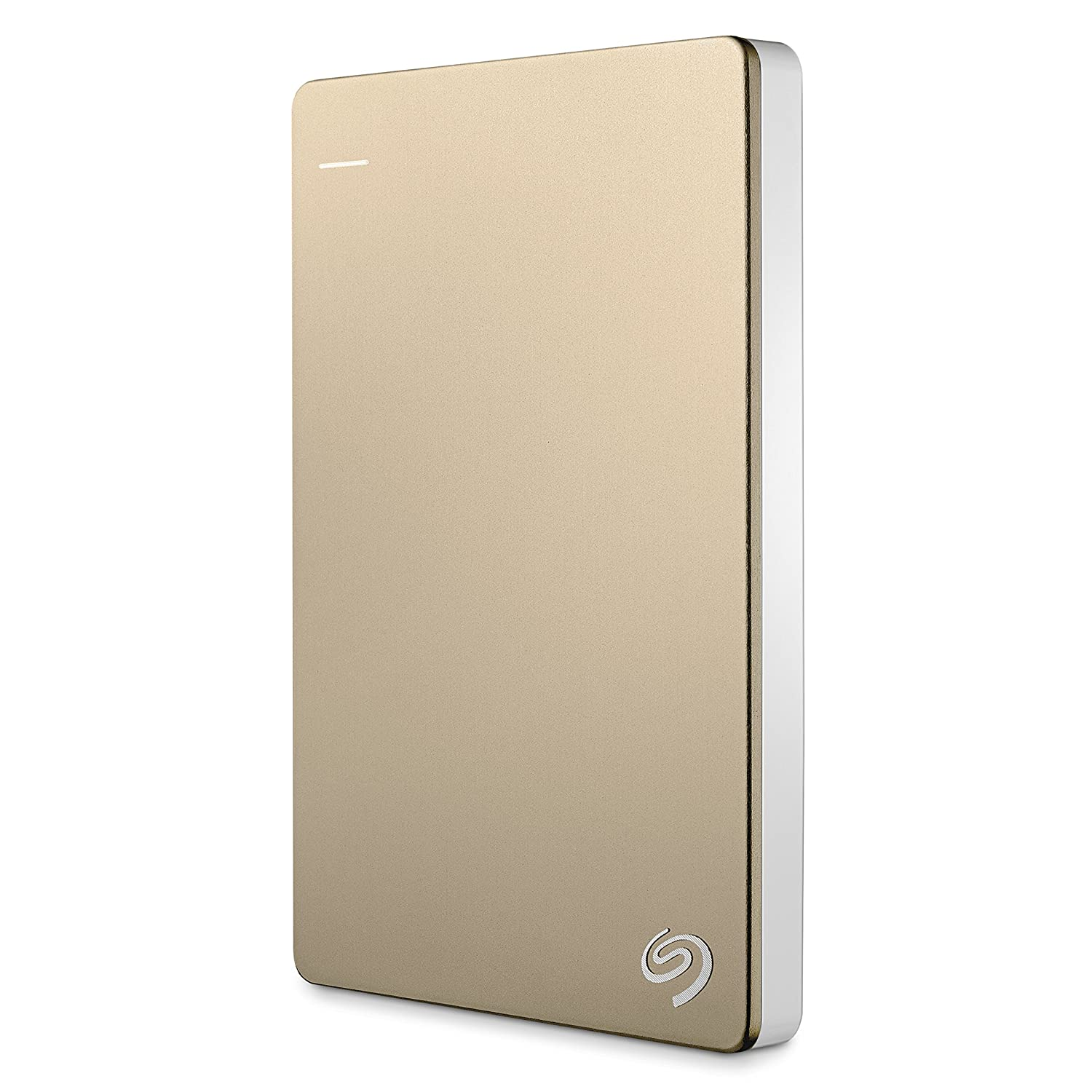 Seagate Backup Plus Slim 2TB Portable External Hard Drive with Mobile Device Backup USB 3.0 (Gold) STDR2000307