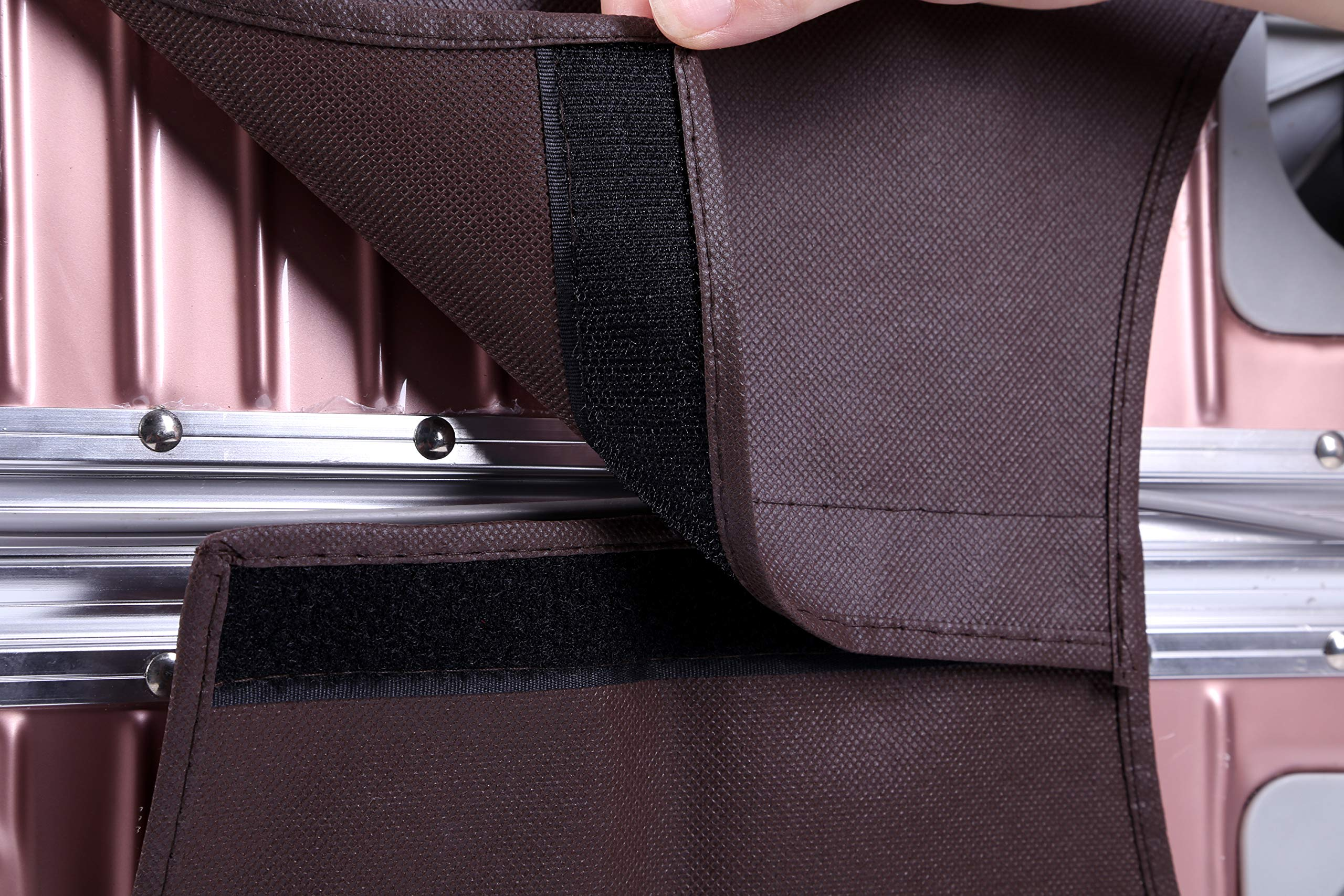 Non-elastic Suitcase Cover Waterproof Luggage Cover,3 Colors,Fits 24 Inch,Brown by CXGIAE (Image #5)
