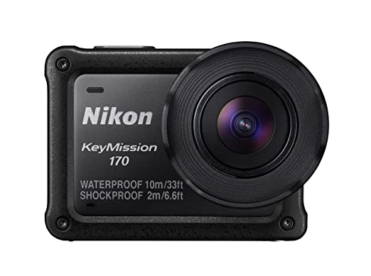 2 opinioni per Nikon KeyMission 170 Action Camera, Nero
