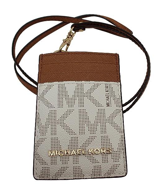 3aa6ee7024bd Michael Kors Lanyard ID Card Case Wallet Travel Jet Set Travel Vanilla  8987  Amazon.ca  Clothing   Accessories