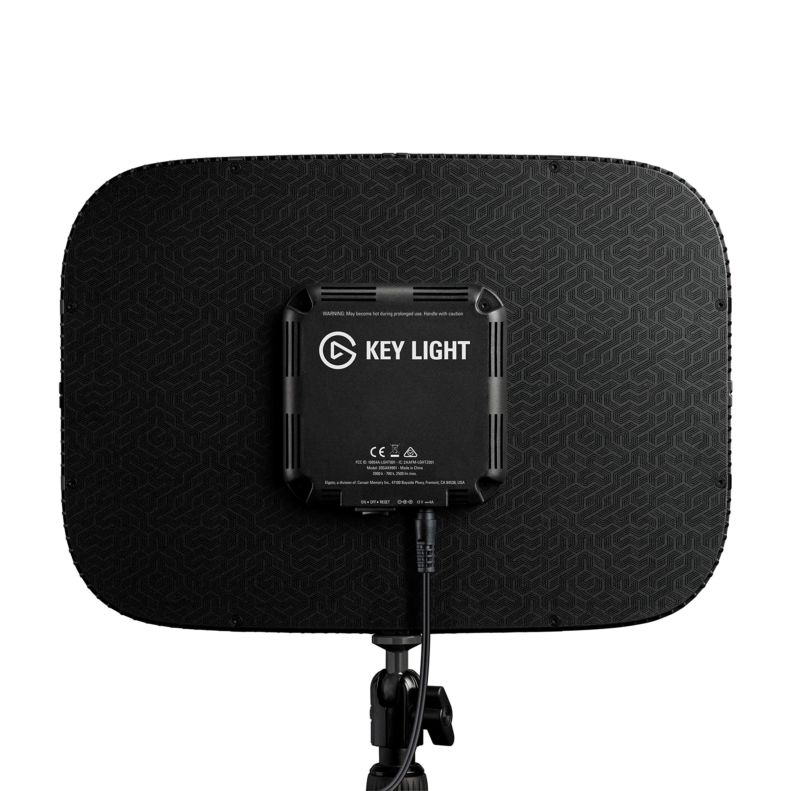Elgato Key Light - Professional Studio LED Panel with 2500 Lumens, Color Adjustable, App-Enabled - PC and Mac by Corsair (Image #3)