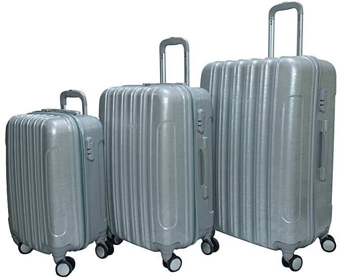 ffb54873848d Morano 3-Piece Luggage Travel Set Bag ABS/PC Trolley Suitcase (28 ...