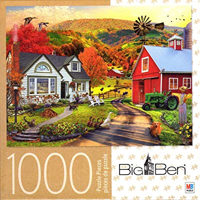 Farm Country 1000 Piece Puzzle: Toys & Games