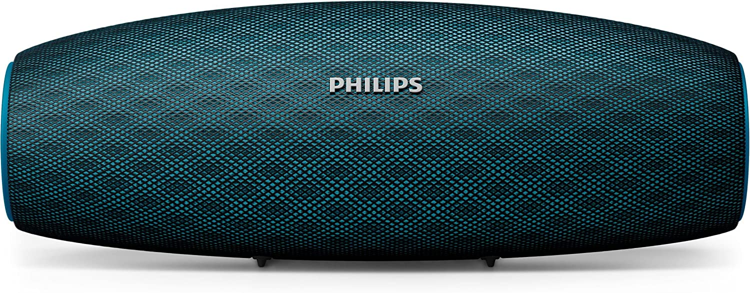 Philips Everplay BT7900A - Altavoz Bluetooth (Potente y portátil de pie, Resistente al Agua, con micrófono, Correa USB) Color Azul
