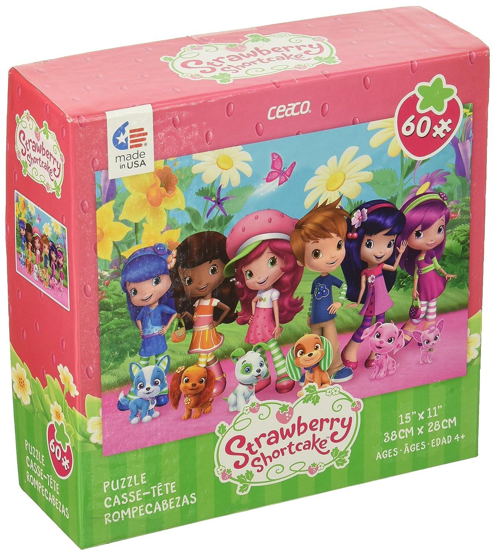 Ceaco 1667-3 Ceaco Strawberry Shortcake Friends /& Pets Puzzle 60 Pieces Games
