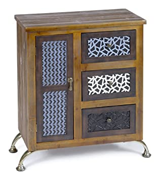 Ts Ideen Design Kommode Schrank Regal Holz Vintage Antik Shabby Design Used  Style Braun Tür