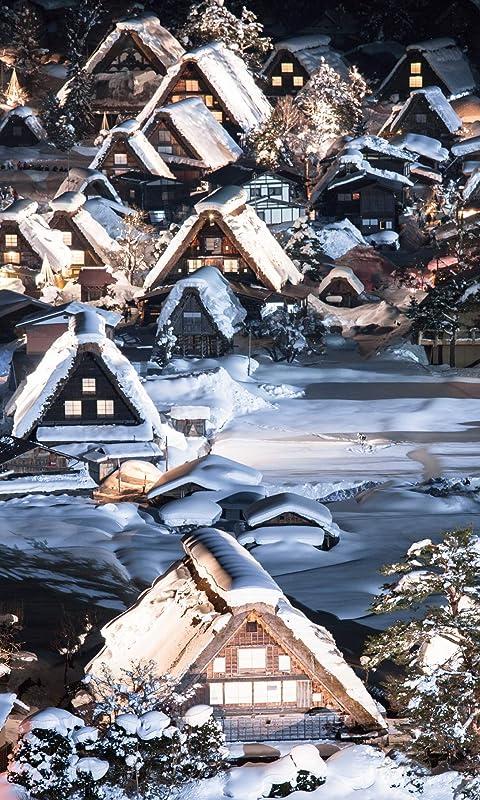 世界遺産 白川郷 FVGA(480×800)壁紙画像