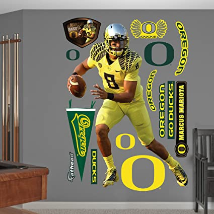 23da0de1 Fathead NCAA Oregon Ducks Marcus Mariota: Oregon - Life-Size Officially  Licensed Removable Wall Decal