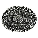 Montana Silversmiths Antiqued Buck Stitch Oval