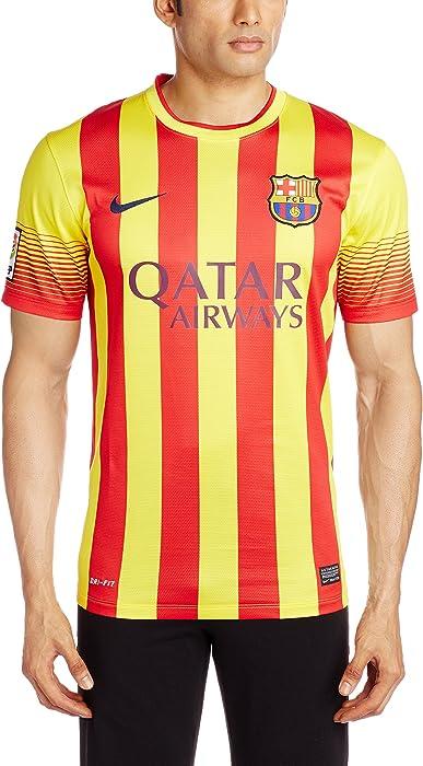 75bbf703c15 Nike FC Barcelona SHORT SLEEVE AWAY REPLICA JERSEY (VIBRANT YELLOW) (L)