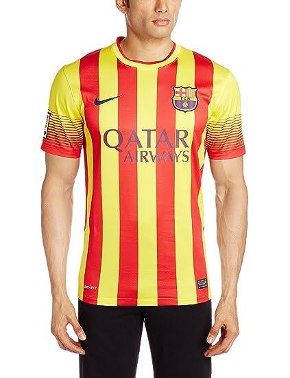 Amazon Com Barcelona Away Jersey Soccer Jerseys Sports Outdoors