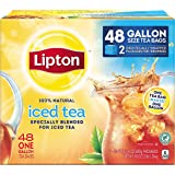 Lipton Gallon-Sized Black Iced Tea Bags, Unsweetened 48 ct Gallon Size
