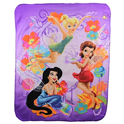 Kids Favorite Character Fleece Blanket - Tinkerbell Fairy: Kitchen & Dining