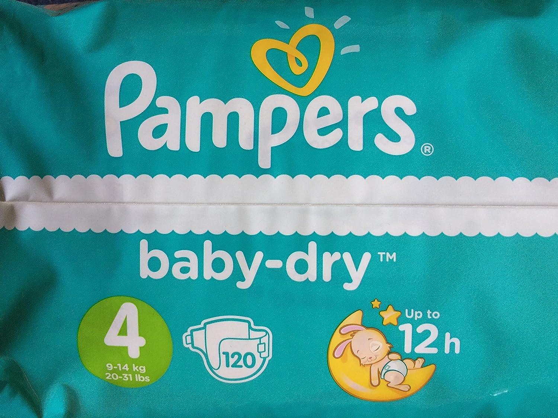 4 server-Pannolini confezione da 120 Pampers Baby Dry-Pannolini misura