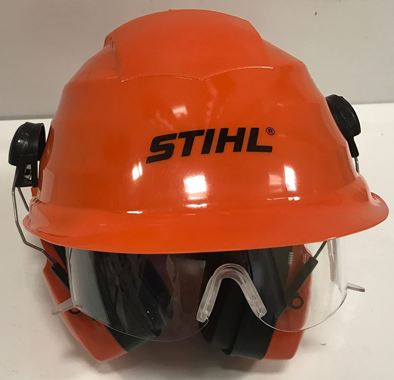 Stihl 0000 884 0180 - Casco de seguridad con gafas: Amazon ...